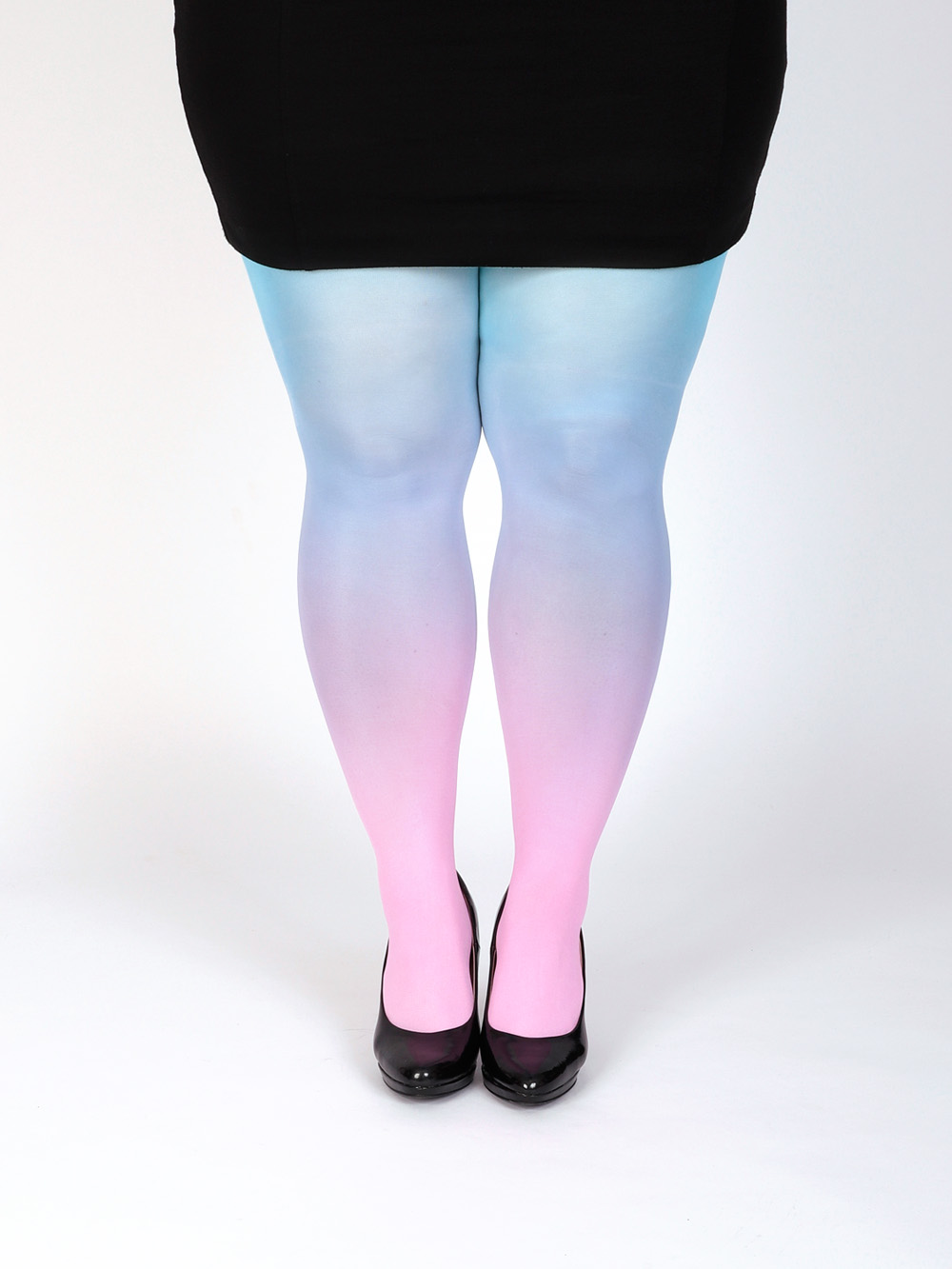 Plus Size Pink-turquoise Tights