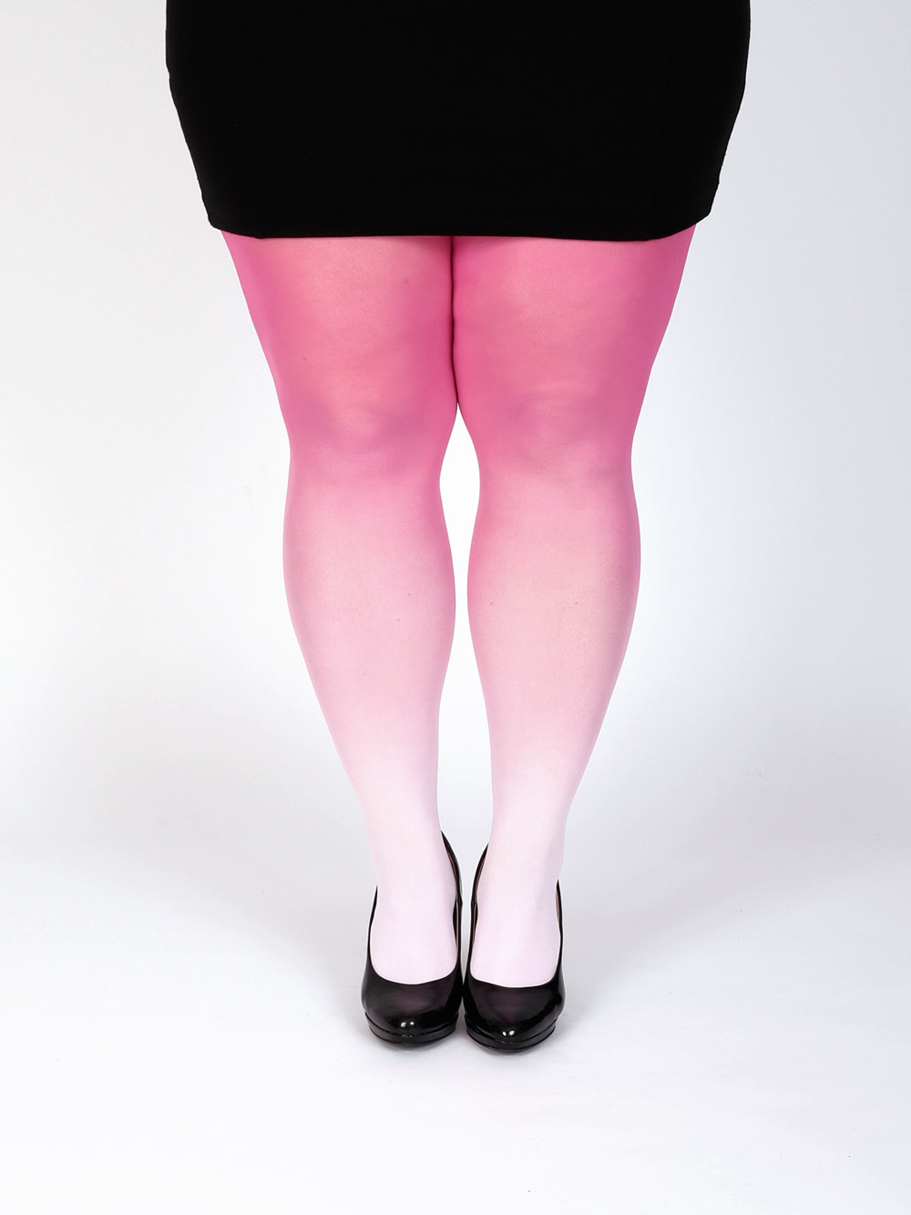 Plus Size Pink Ombre Tights