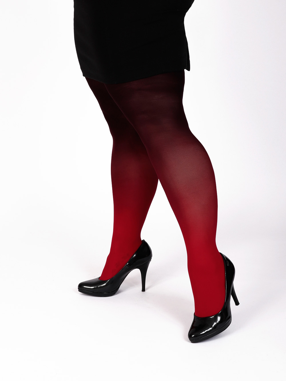 Plus Size Red-black Tights