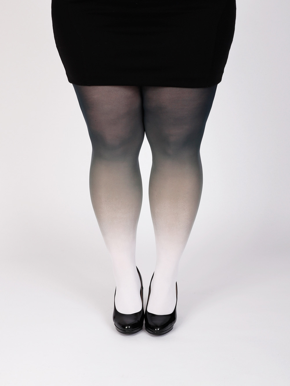 Plus Size White-black Tights