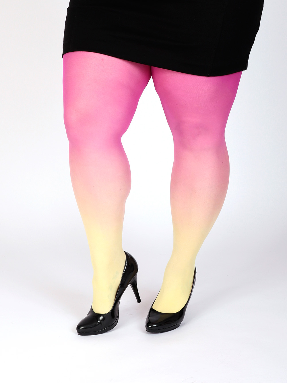 Plus Size Yellow-magenta Tights