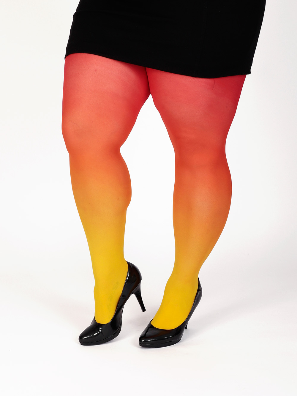 Plus Size Yellow-red Tights