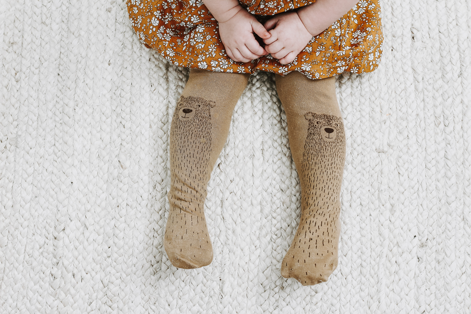 Brown bear tights by Virivee