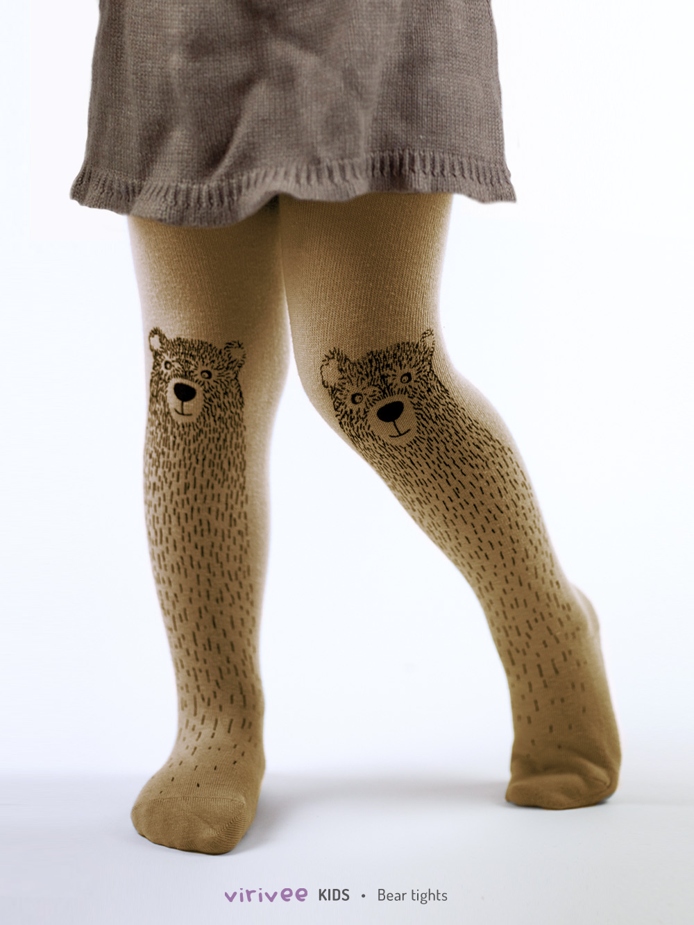 Brown Bear Girls Tights