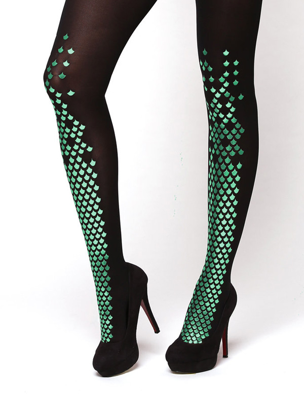 Green Feet Mermaid Tights