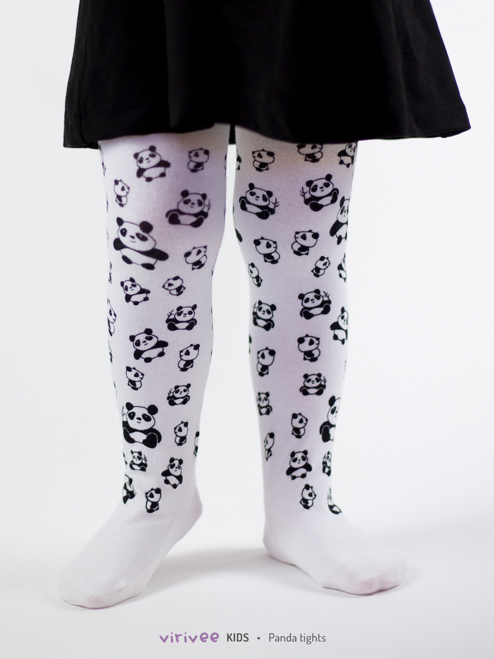 Panda Tights For Girls