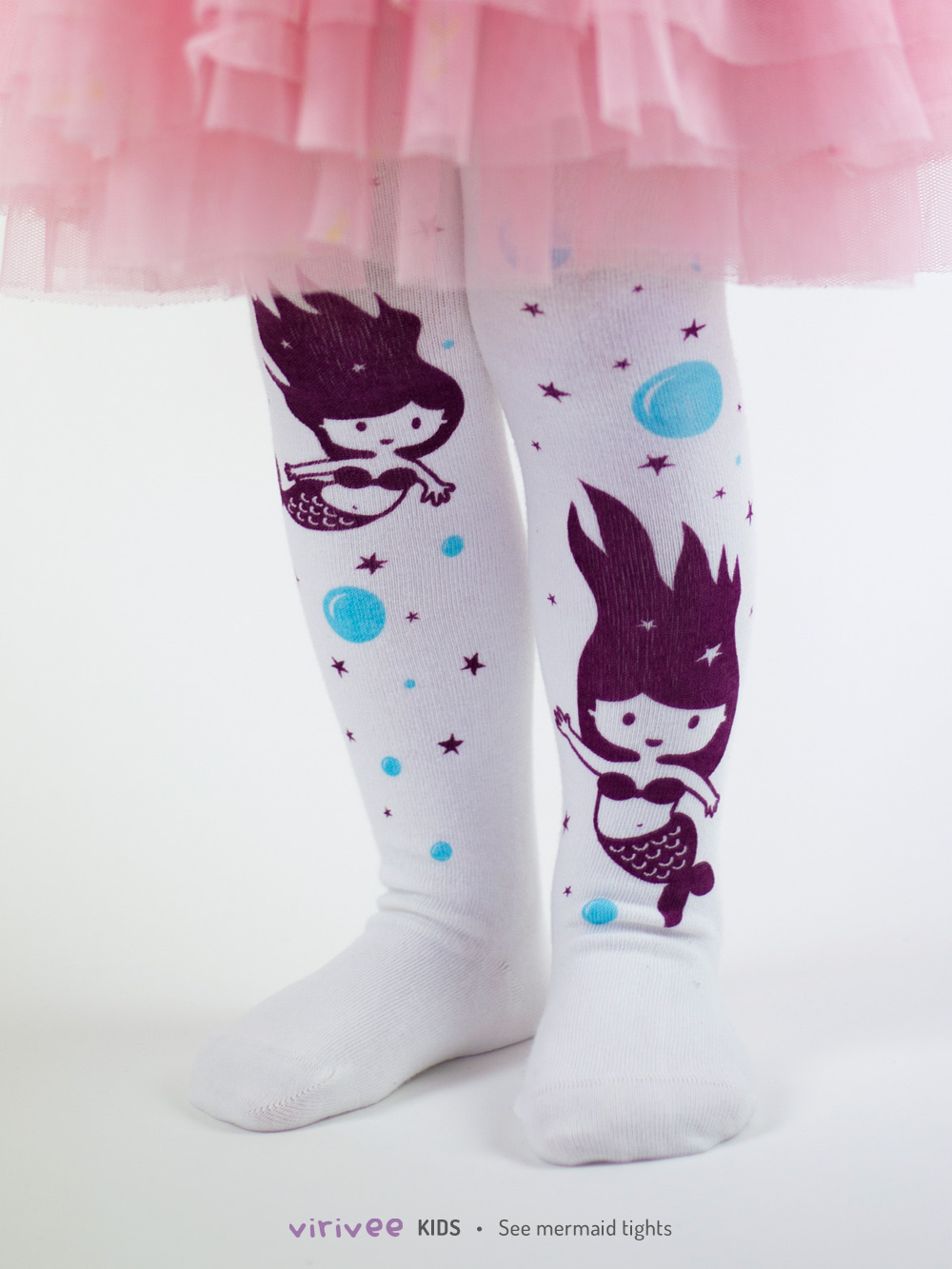 Sea Mermaid Tights In White