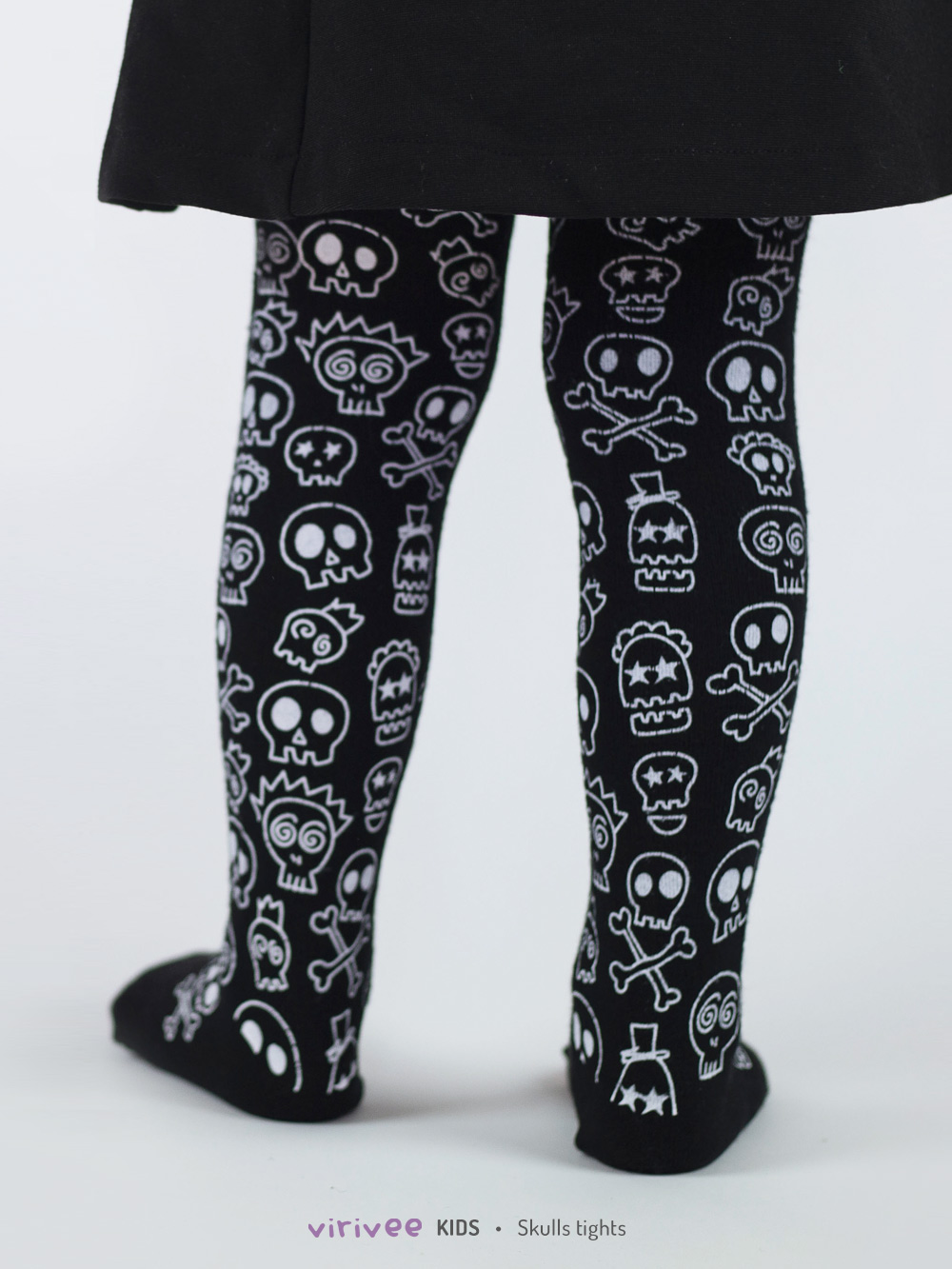 Skull Halloween Tights For Girls