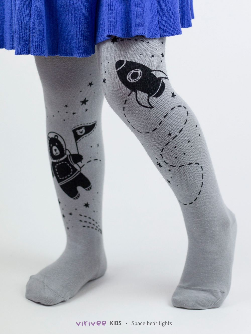 Space Bear Girls Tights