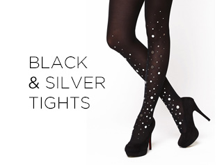 Virivee Black-Silver Tights