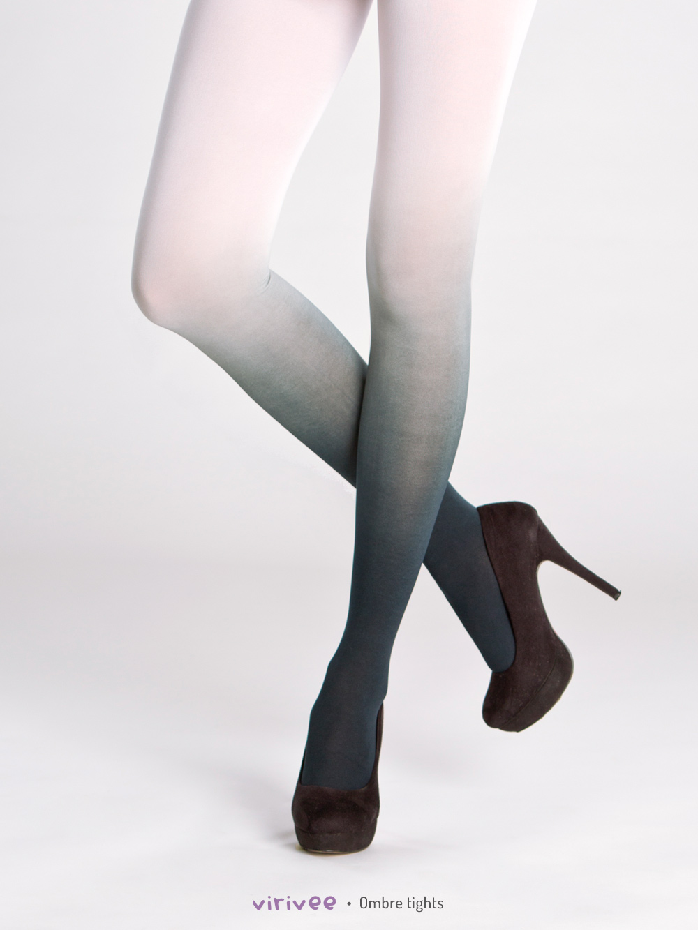 Black-white Ombre Tights