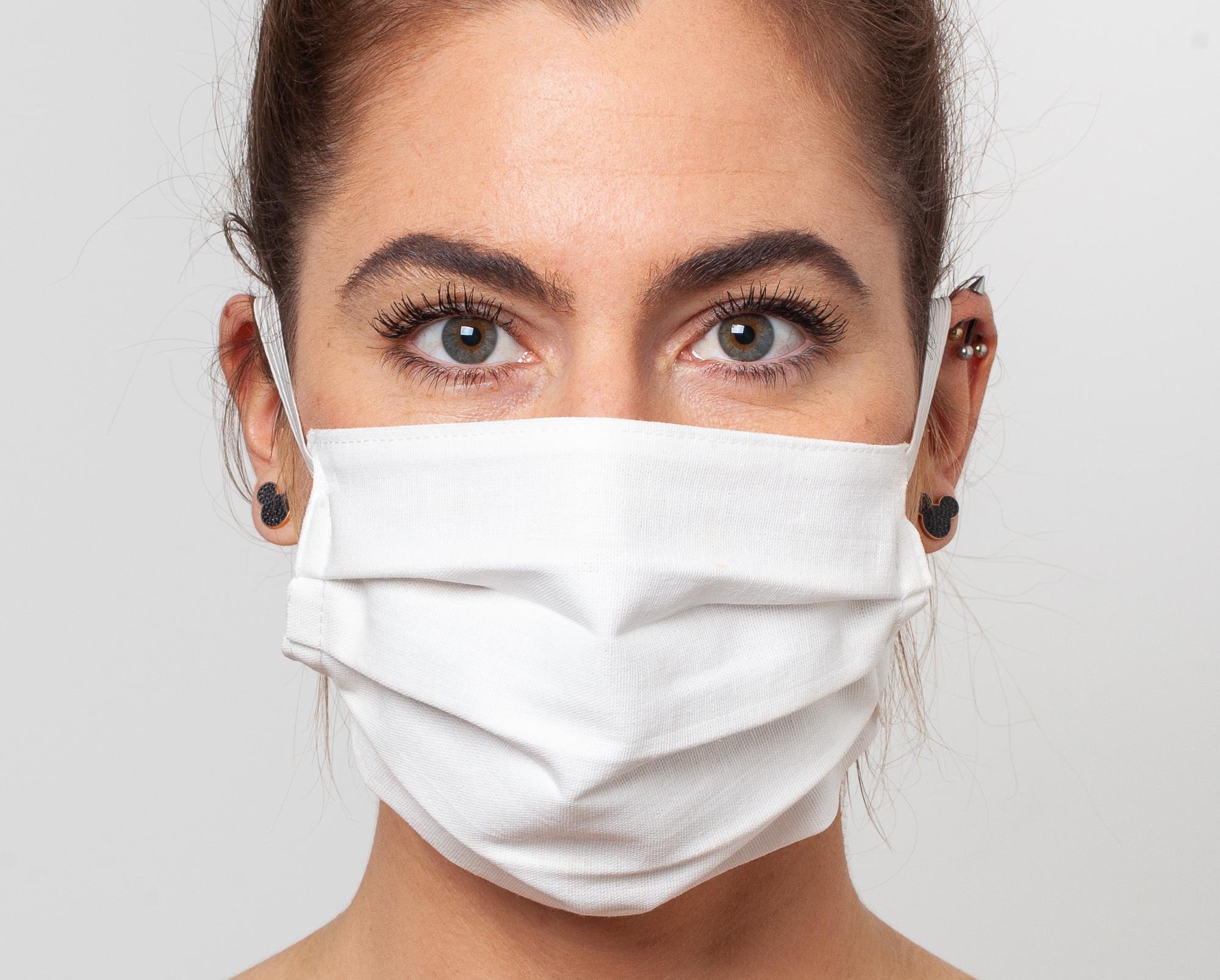 Cotton Washable Face Mask, White
