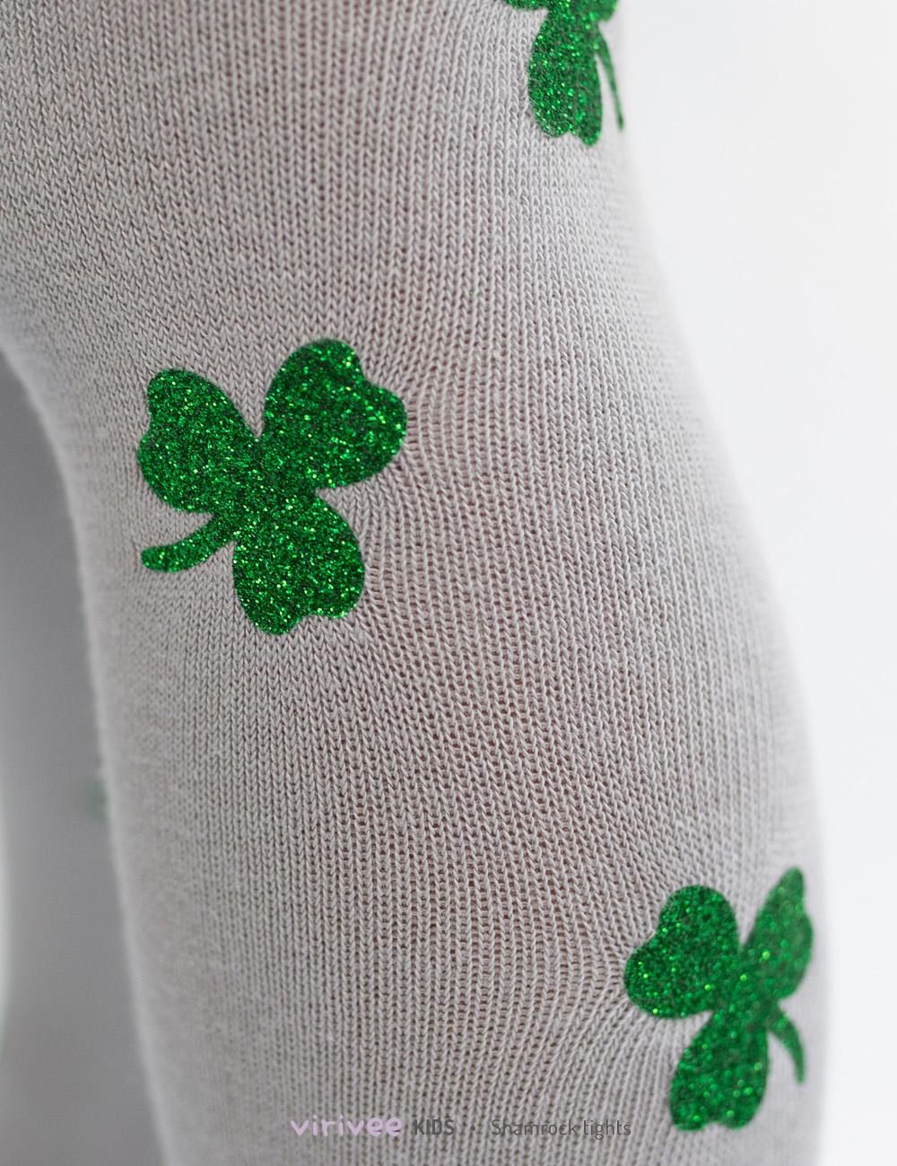 Shamrock clover Irish tights