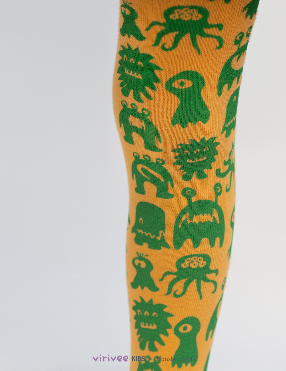 Cute monster tights for girls