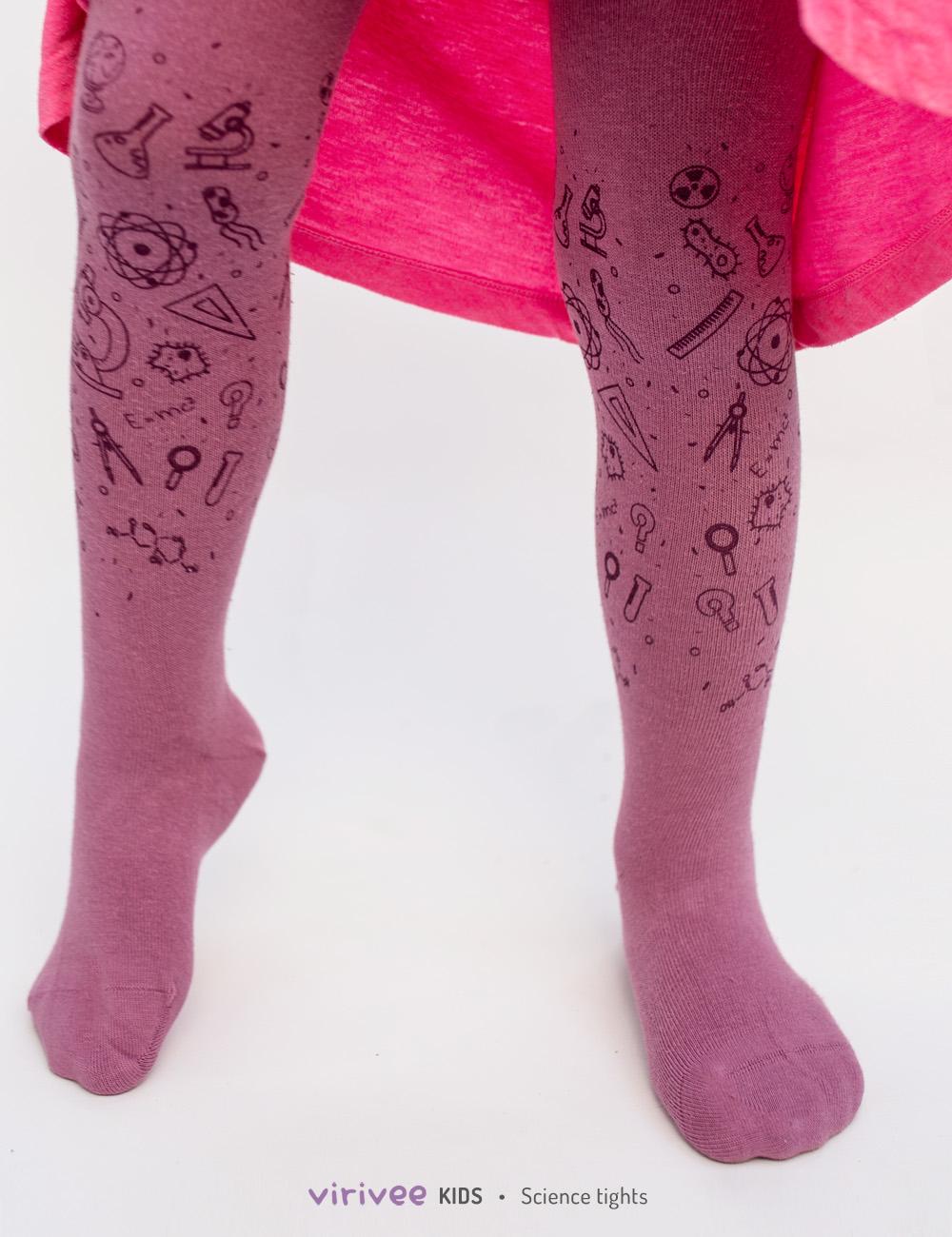 Science, mathematics, biology, physics themed tights