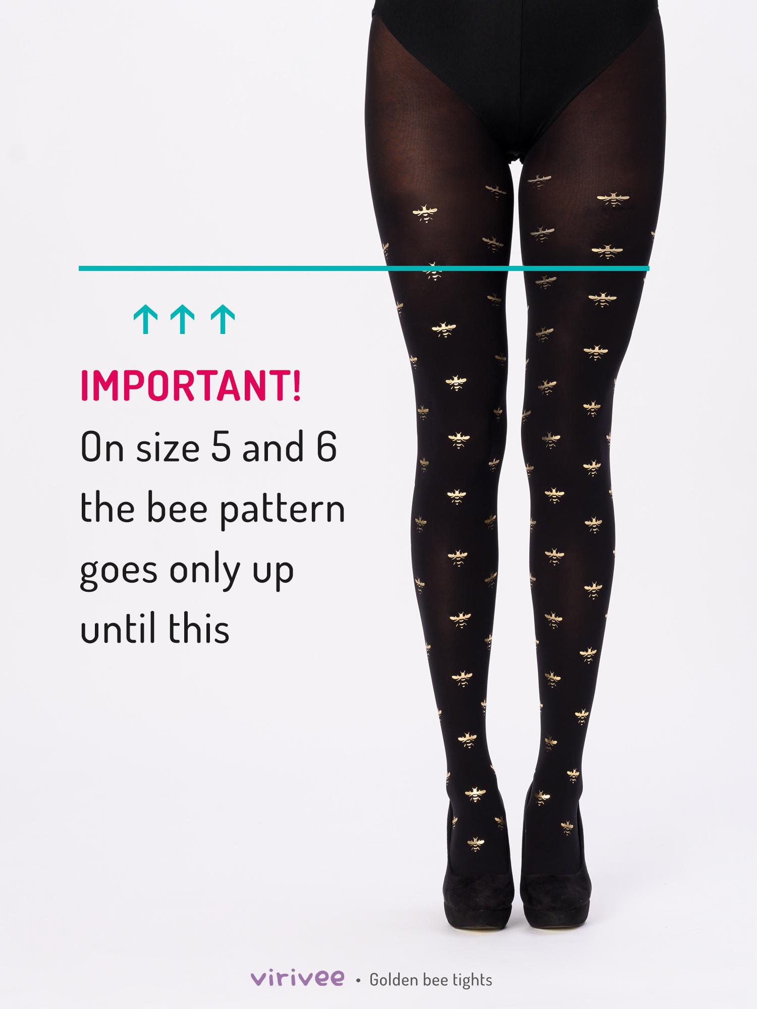 Golden bee tights by Virivee