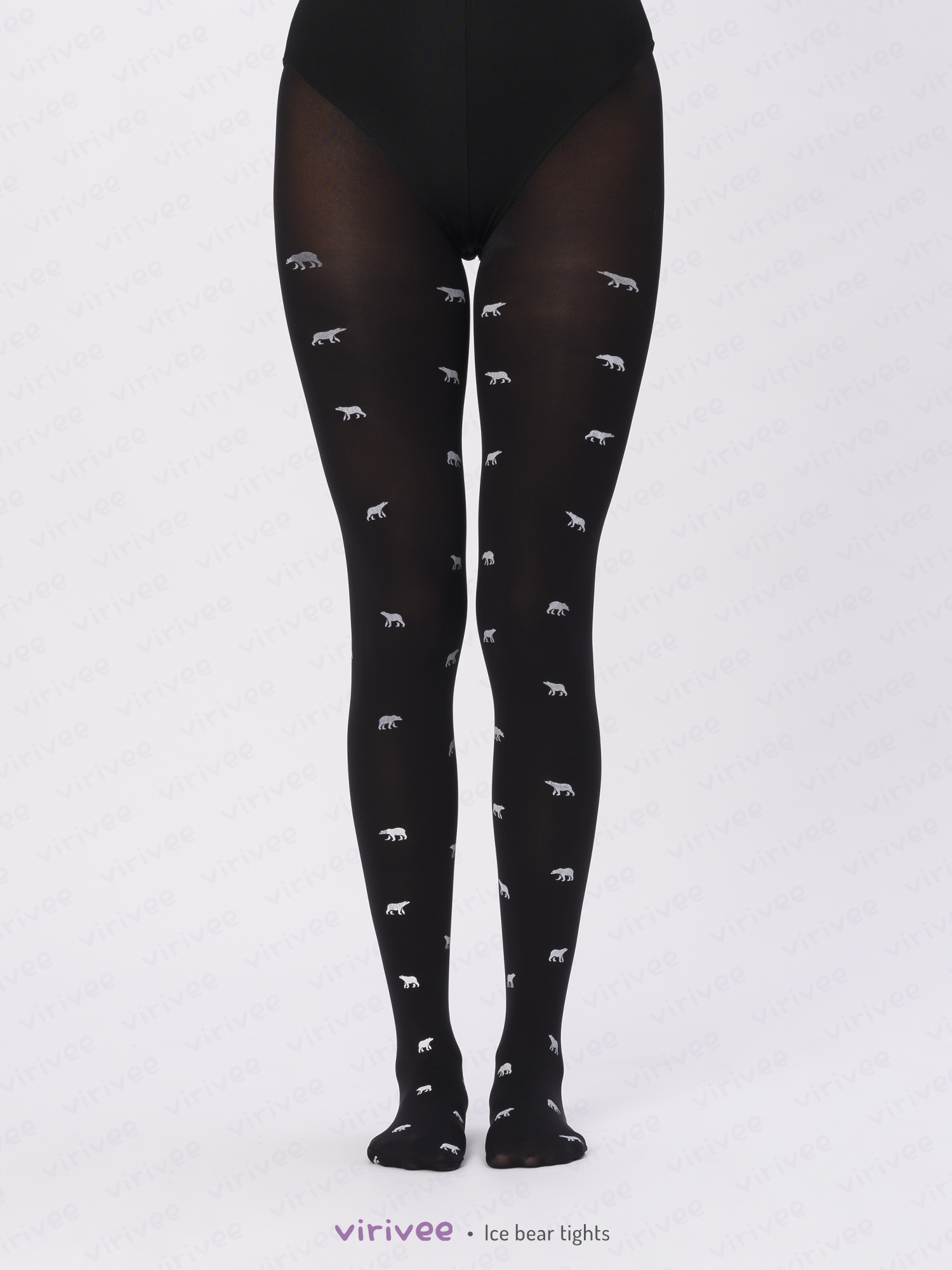 Ice bear patterned tights