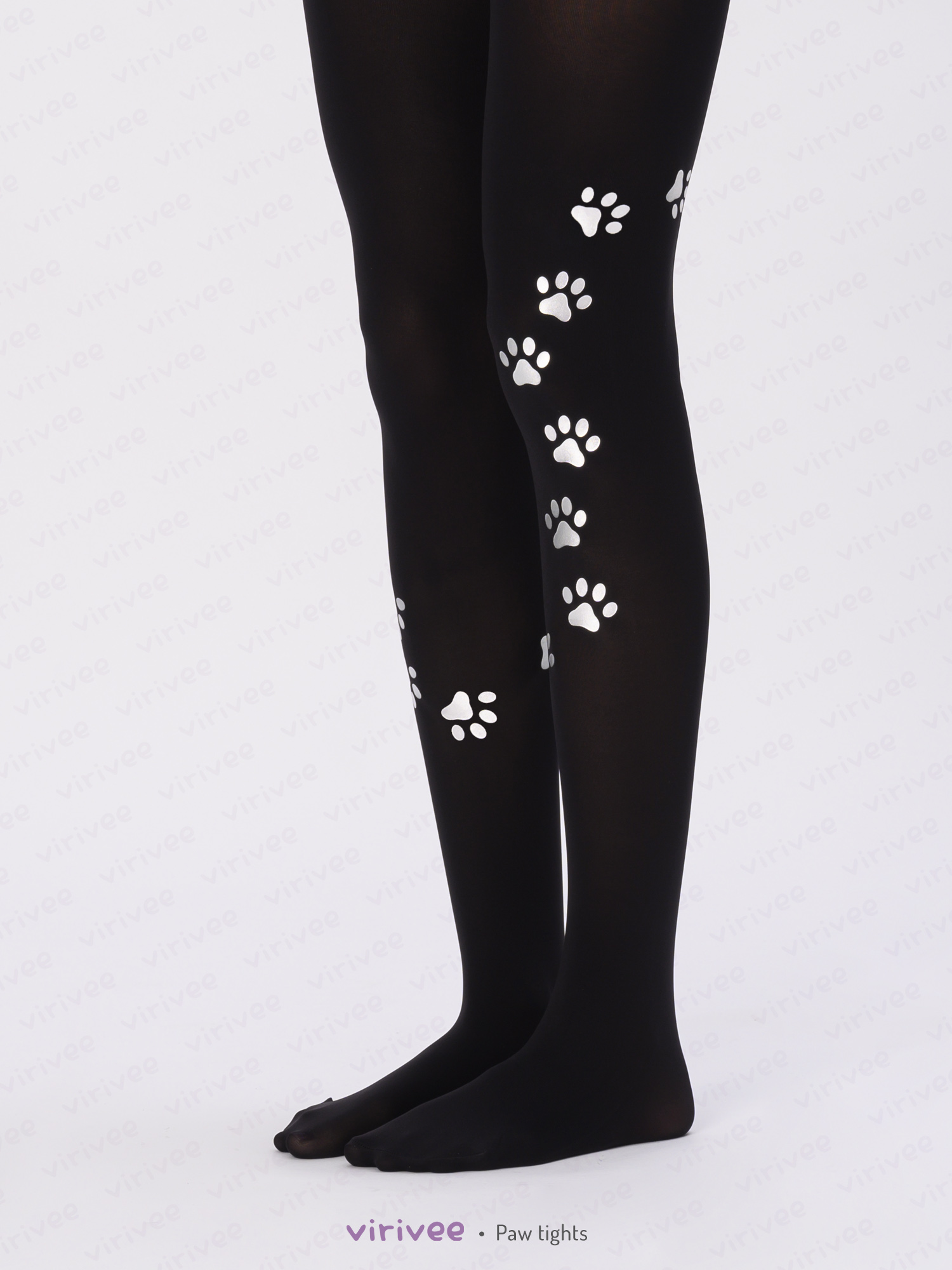 Tights with dog paw print