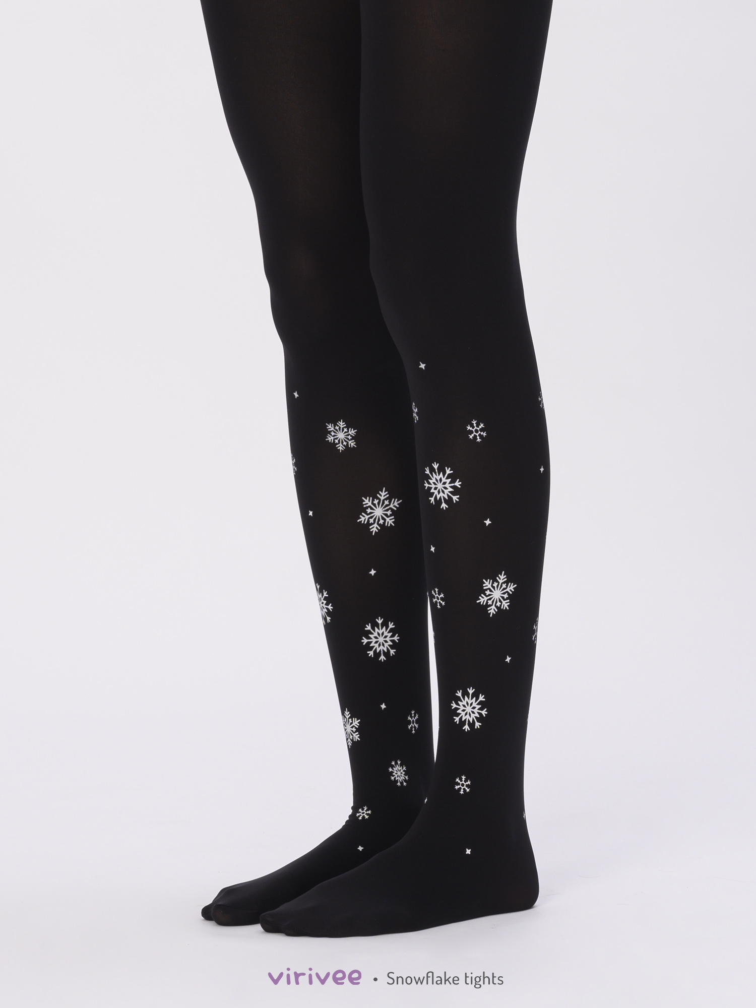 Snowflake Printed Tights