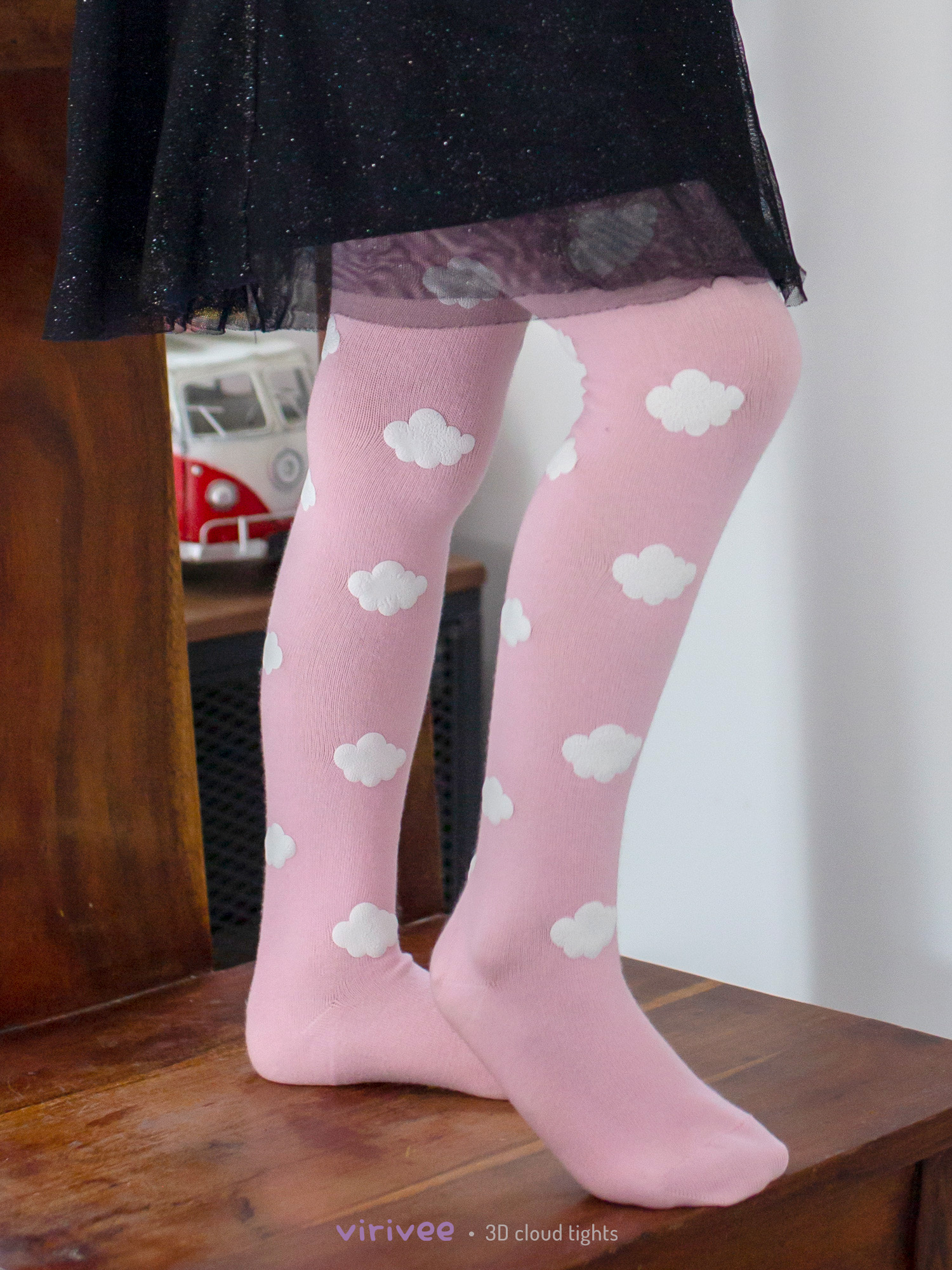 Cloud Tights In Pink For Girls